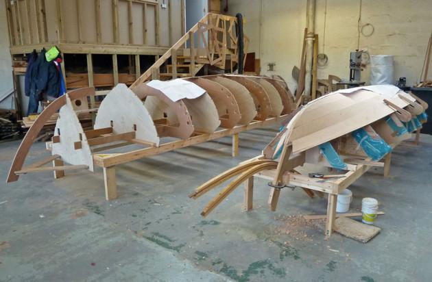 St Ayles Skiff underconstruction